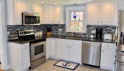 Remodeled white kitchen | Hanson Massachusetts